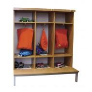 Garderobenwand - 3 Plätze
