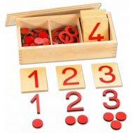 Ziffern und Chips rot, 77-teilges Set