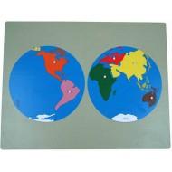 Großes Weltpuzzle, 57 x 44 cm