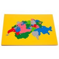 Große Puzzlekarte Schweiz