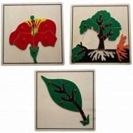 Pflanzen-Puzzle, 3-teiliges Set