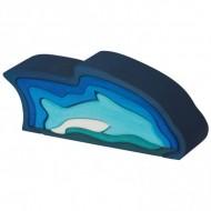Bunte Formenwelt - Delphin, 9-teilig