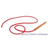 Holznadel mit Schnur für Fädelspiele, L 80cm