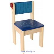 Kinderstuhl Marienkäfer blau 31x31x57 cm - 3 Stk