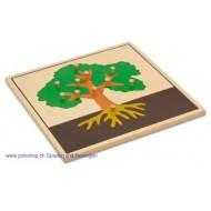 Der Baum - Holzpuzzlekarte in der Größe 24 x 24 cm