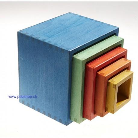 nic Steckwürfel bunt 13,5x13,5x12cm - Bio-Sortiment ab 1 Jahr