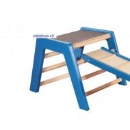 Trapezbock klein blau, 60 x 62 x 45 cm