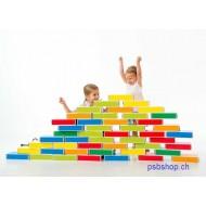 Kartonbausteine Buntbox 48-teilig,  24x11,8x5,8cm, ab 2 jährig