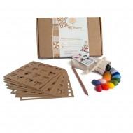 Crayon Rocks Set 16 Farben mit Malschablonen und  Regenbogenstift