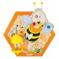 Wandelement Bienenstock - Biene, Pollen bewegen und ins Innere des Bienenstocks schauen.