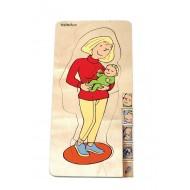 Lagenpuzzle - Mutter 145 x 295 x 20 mm, Alter: 4+