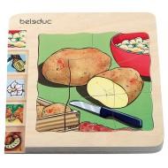 Lagenpuzzle - Kartoffel 30-teilig, 145 x 145 x 18 mm, Alter: 4+