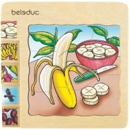 Lagenpuzzle - Banane 30-teilig 145 x 145 x 18 mm, Alter: 4+