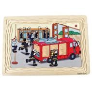 Lagenpuzzle - Feuerwehr 58-teilig 295 x 207 x 18 mm  Alter: 4+