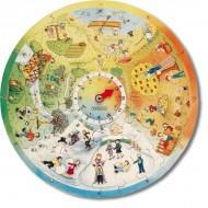 """XXL Lernpuzzle """"4 Jahreszeiten"""" 48 Puzzleteile, 1 Uhr, Alter: 4+"""