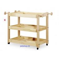 Gerätewagen-3 Böden, Aufbewahrung von Gymnastikartikeln.