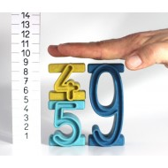 Stapelzahlen, 100-er Zahlenraum in Montessori-Farben