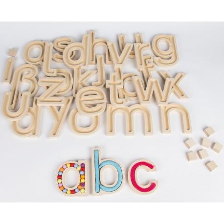 29 Kleinbuchstaben aus MDF - Freiarbeitsmaterial zu Buchstaben für Kinder ab 4 Jahren