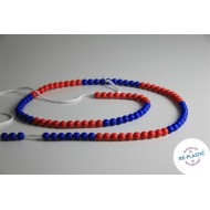 Riesen-Rechenkette rot/blau 100-er Zahlenraum, Perlenkette zum Zählen und Rechnen