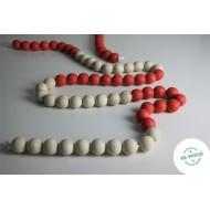Riesen-Rechenkette rot/weiss 100-er Zahlenraum, Perlenkette zum Zählen und Rechnen