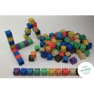Steckwürfel-Set in 10 Farben 100-teilig, Raum und Form