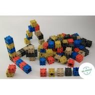 Steckwürfel in 5 Farben 100-teilig, Raum und Form