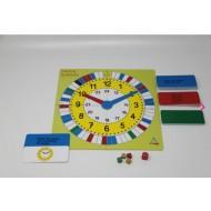 Mathespiel - Lernspiel Uhrzeit für 2-4 Spieler