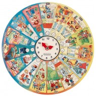 """XXL Lernpuzzle """"Mein Tag"""" 48 Puzzleteile, 1 Uhr, 1 Holzständer, Alter: 4+"""