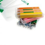 Dicke Buntstifte - Set mit 120 Farbstifte 10x12 Farben, Sechskant 5mm dicke Mine in Kunststoffbox