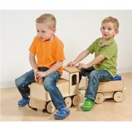 Aufsitzer, Grosser Holz-Zug für Kleinkinder und Kitas
