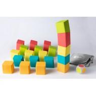Schrägstapler Maxi, 20 St. Bausteine aus Schaumstoff für 1-5 Kinder ab 3-jährig