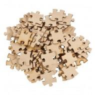 100 Blanco Puzzleteile im Rohzustand zum Selbstgestalten