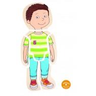 Körper - Puzzle - Junge, Lagenpuzzle, ab 4-jährig