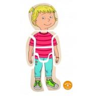 Körper - Puzzle - Mädchen, Lagenpuzzle, ab 4-jährig