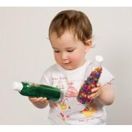 Experimentier- und Schüttelflaschen D 5 cm, H 19 cm, ab 12 Monaten, für 1 Spieler