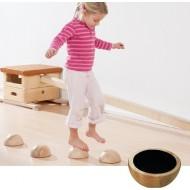 Holzhalbkugel 1 Stück- Bodenmaterial - Balancieren