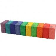 10 farbige Quadrate, Kork-Bausteine, Ergänzungsset