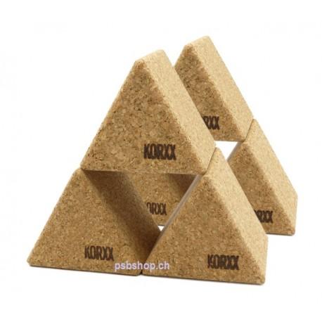 6 grosse Dreiecke -Die grossen Kork-Bausteine für Innen und  Aussen.
