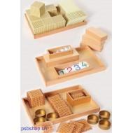 Komplettsatz Goldenes Perlenmaterial