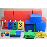 Dezimalrechen-Komplettsatz 198 Teile, Dienes-Mathematischer Würfel