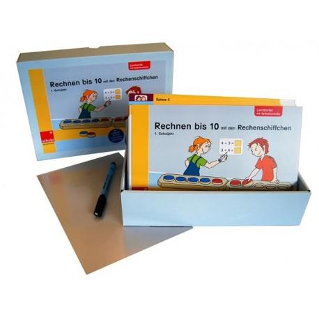Rechnen bis 10 mit den Rechenschiffchen Übungskartei mit Selbstkontrolle - Ausgabe Schweiz