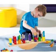Holz-Waage, Experimentieren, Messen und Wiegen ab 3-jährig