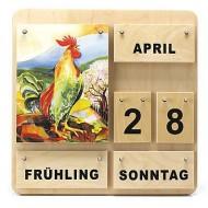 Kinder Holzkalender Vier Jahreszeiten - Dauerkalender