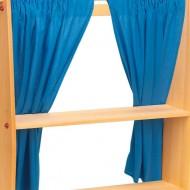 Vorhang blau, 2 Stück- Zusatzmaterial zum Spielhaus