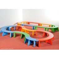Puzzlebänkchen - Halbkreis - gross, für Spiel-, Gruppen- und Bewegungsräume