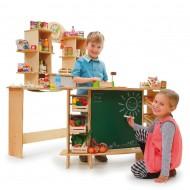 Kaufladen, Shop, Rollenspiele für Käufer, Verkäufer und  Köche in Kinderzimmern und Gruppenräumen