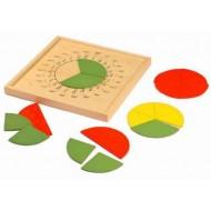 Bruchkreis mit Gradeinteilung und Geotafel, 24-teiliges Set