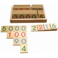 Zahlentafeln klein, Holz, 37-teiliges Set