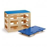 Sportbox mit Aufsatz für Kletter und Balancierbretter, Alter 3+