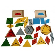 Konstruktive farbige Dreiecke, 5 Sets